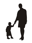 Mother and Child Silhouette v2 Decal Sticker