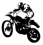 Motocross Racer v11 Decal Sticker
