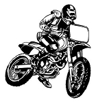 Motocross Racer v13 Decal Sticker