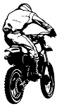 Motocross Racer v1 Decal Sticker