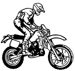 Motocross Racer v2 Decal Sticker