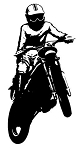 Motocross Racer v7 Decal Sticker