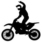 Motocross Racer Silhouette Decal Sticker
