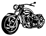 Motorcycle Front View v1 Decal Sticker