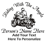 Motorcycle Rider Memorial v3 Decal Sticker