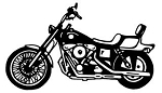 Motorcycle Sideview Decal Sticker