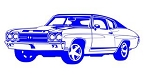 Muscle Car Decal Sticker