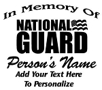 National Guard Memorial Decal Sticker