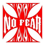 No Fear Maltese Cross Decal Sticker