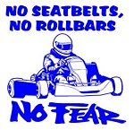No Fear Shifter Kart Decal Sticker