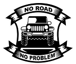 No Road No Problem - v2 Decal Sticker