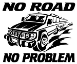 No Road No Problem Decal Sticker