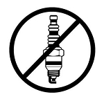No Spark Plugs Decal Sticker