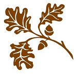 Oak Leaves Decal Sticker