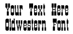 Oldwestern Font Decal Sticker