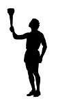 Olympic Torch Silhouette Decal Sticker