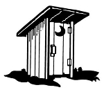 Outhouse Decal Sticker