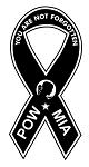 POW MIA Ribbon Decal Sticker
