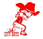 Pee On City Boys Decal Sticker