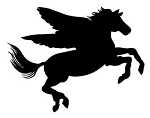 Pegasus Silhouette Decal Sticker