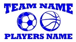Personalized Soccer-Basketball v2 Decal Sticker