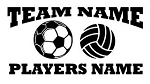 Personalized Soccer-Volleyball v2 Decal Sticker