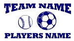 Personalized Softball-Soccer v2 Decal Sticker