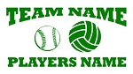 Personalized Softball-Volleyball v2 Decal Sticker