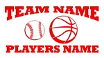 Personalized Baseball-Basketball v2 Decal Sticker
