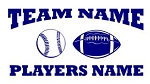 Personalized Baseball-Football v2 Decal Sticker