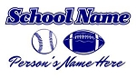 Personalized Baseball-Football Decal Sticker