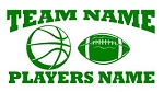 Personalized Basketball-Football v2 Decal Sticker