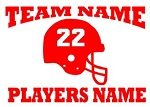 Personalized Football v1 Decal Sticker