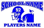 Personalized Football v3 Decal Sticker