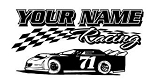 Personalized Late Model Racing v1 Decal Sticker