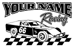 Personalized Modified Racing v5 Decal Sticker