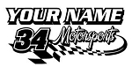 Personalized Motorsports v3 Decal Sticker