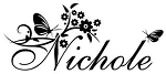 Personalized Name with Butterflies and Flowers Decal Sticker