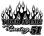 Personalized Racing v2 Decal Sticker