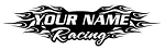 Personalized Racing v4 Decal Sticker