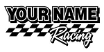 Personalized Racing v7 Decal Sticker
