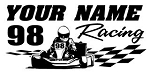 Personalized Shifter Go Kart Racing v10 Decal Sticker