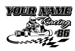 Personalized Shifter Kart Racing v1 Decal Sticker