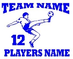 Personalized Soccer v1 Decal Sticker