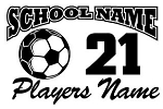 Personalized Soccer v2 Decal Sticker