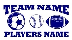 Personalized Soccer-Baseball-Football v2 Decal Sticker