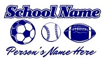 Personalized Soccer-Baseball-Football Decal Sticker