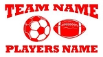 Personalized Soccer-Football v2 Decal Sticker