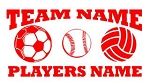 Personalized Soccer-Softball-Volleyball v2 Decal Sticker