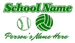 Personalized Softball-Volleyball Decal Sticker